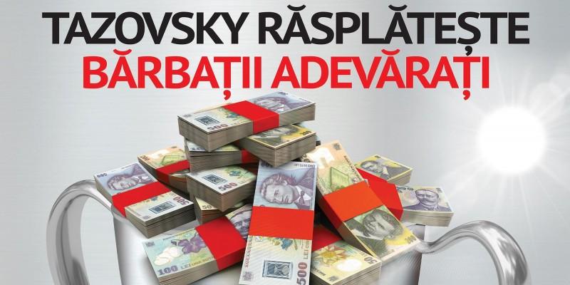 Tazovsky Vodka rasplateste barbatii adevarati intr-o noua campanie promotionala