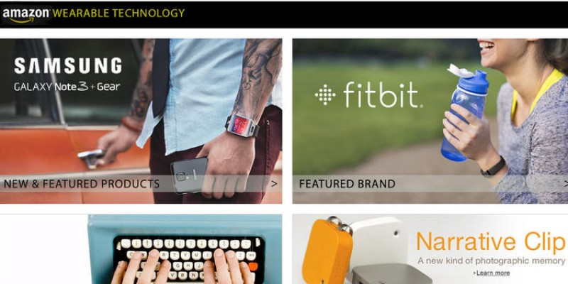 Amazon lanseaza o sectiune a site-ului specializata in comercializarea de wearable tehnologies