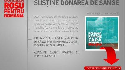 Aplicatie de Facebook: Observator - Doneaza rosu pentru Romania (1)