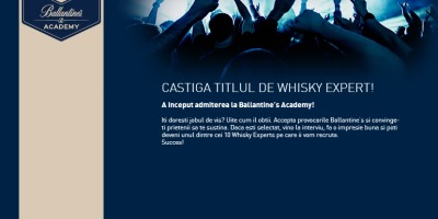 Ballantine's Academy recruteaza 10 ambasadori de brand pe Facebook