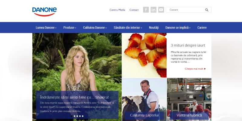 Danone.ro, relansat ca o platforma inovatoare de comunicare semnata WEBSTYLER