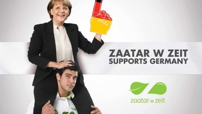 Zaatar W Zeit: Football Euro Cup 2012 - Angela Merkel