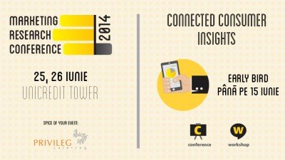 Call for papers pentru Marketing Research Conference 2014 - Connected Consumer Insights