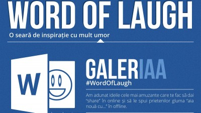 Inspiratie din umor la GalerIAA Word of Laugh