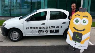 Un blogger a castigat o Dacia Logan pe Orkestra.ro, o platforma dedicata blogosferei si brandurilor
