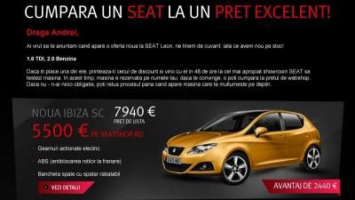 SEAT - SEAT Webshop (e-mail promo)