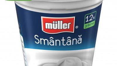 Noile ambalaje Müller pentru lapte, iaurt si smantana, create de Jazz