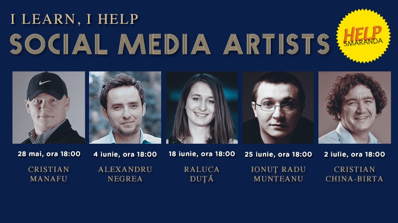 I learn, I help continua. Participa la 5 workshopuri de Social Media Marketing si sprijina cauza HELP SMARANDA