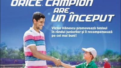 In 2013, SCG si Victor Hanescu au sprijinit tenisul pentru juniori din Romania