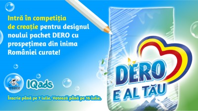 Creeaza designul noului pachet DERO cu prospetimea din inima Romaniei curate