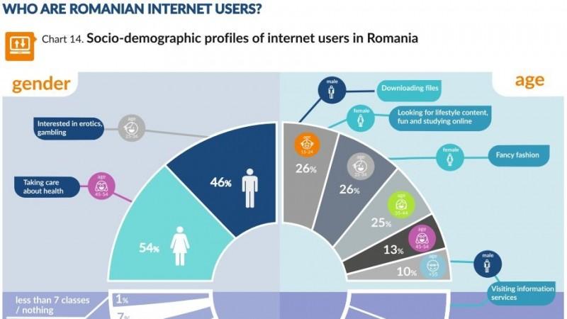 Studiu Gemius: numai 48% din populatia din Romania are acces la Internet