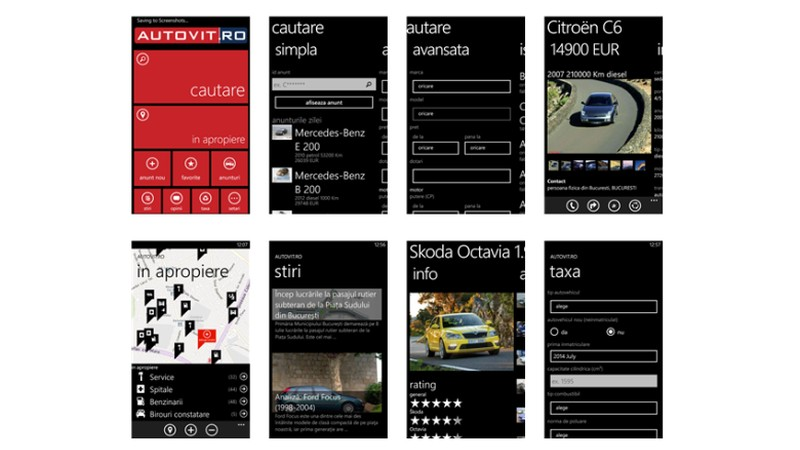Momobi a dezvoltat aplicatia Autovit.ro pentru Windows Phone
