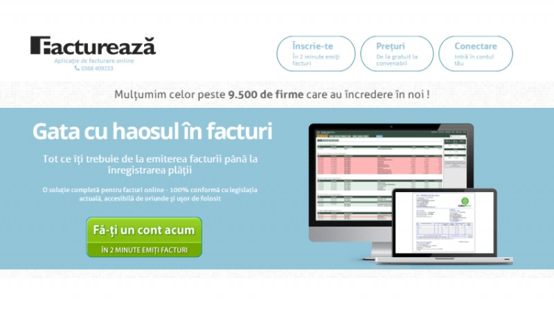 Factureaza.ro a depasit 10.000 de utilizatori