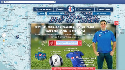 """Pepsi premiaza pasiunea pentru fotbal"", o campanie online/offline din cadrul platformei Next 11"