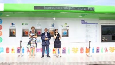 SIGUREC, statiile inteligente de colectare selectiva a deseurilor, lansate in Bucuresti, in parcarile Carrefour Baneasa si Carrefour Vitantis