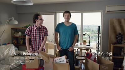 Un student la Politehnica si un vlogger, noile personaje ale campaniei Vodafone