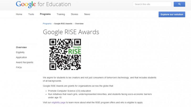 Incep inscrierile pentru Google RISE Awards 2015
