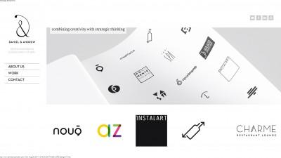 Studioul romanesc de design si consultanta de brand Daniel&Andrew anunta lansarea noului sau website