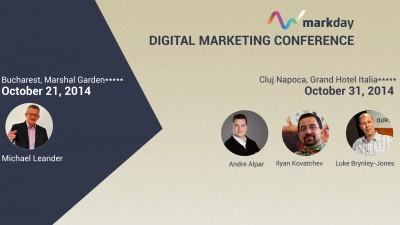 Au inceput inscrierile la MarkDay, evenimentul ce promite sa creasca potentialul de marketing al businessului dumneavoastra