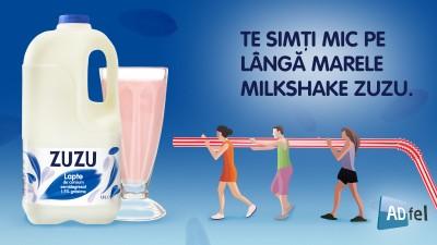 Zuzu lapte se da mare cu shake-uri uriase la ADfel 2014