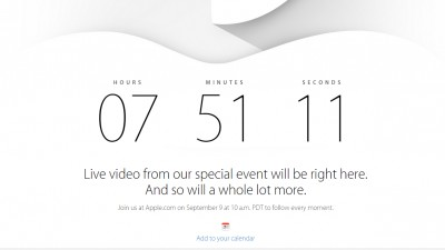 07 ore 51 minute si 11 secunde pana la lansarea iPhone 6