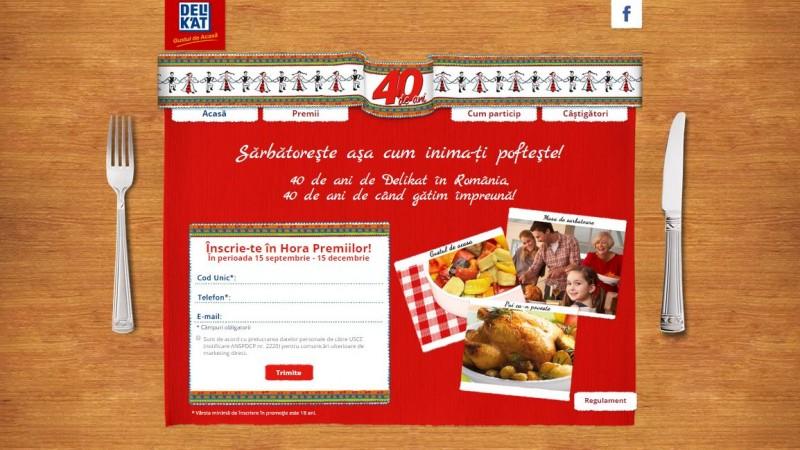 La aniversarea a 40 de ani pe piata romaneasca, Delikat lanseaza o campanie promotionala