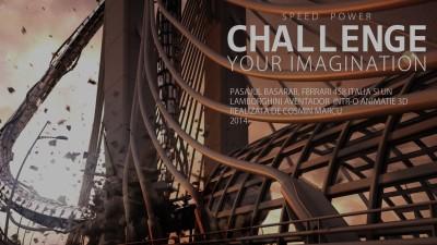 "Cosmin Marcu, ""Challenge Your Imagination"": Animatie 3D cu Pasajul Basarab, Ferrari si Lamborghini"