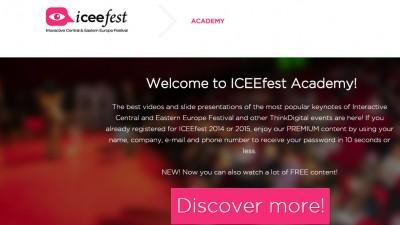 ThinkDigital a lansat astazi platforma de continut si e-learning ICEEfest Academy