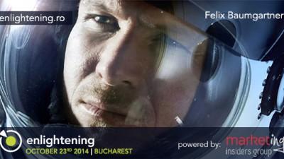 Felix Baumgartner, primul om care a spart bariera sunetului sarind din stratosfera vine la Conferinta de Leadership Enlightening 3.0