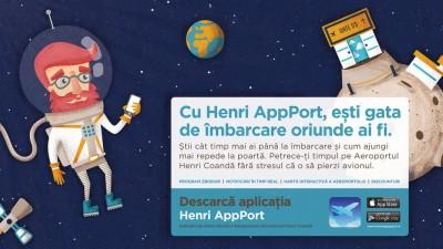 Henri, un pasager intarziat – personajul creat de Rusu+Bortun pentru lansarea primei aplicatii mobile a Aeroportului Henri Coanda
