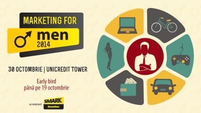 Renunta la clisee si intra in mintea barbatului din target la Marketing for Men 2014