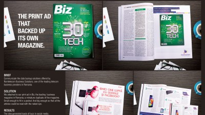 Romtelecom Business Solutions - The Print Ad That Backed Up Its Own Magazine