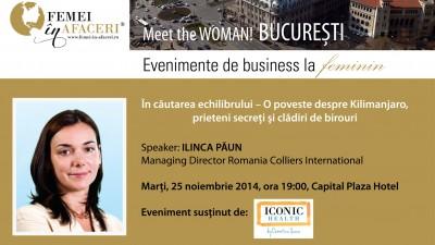 In cautarea echilibrului cu Ilinca Paun, speaker la Meet the WOMAN!