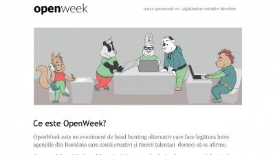 OpenWeek - Saptamana mintilor deschise