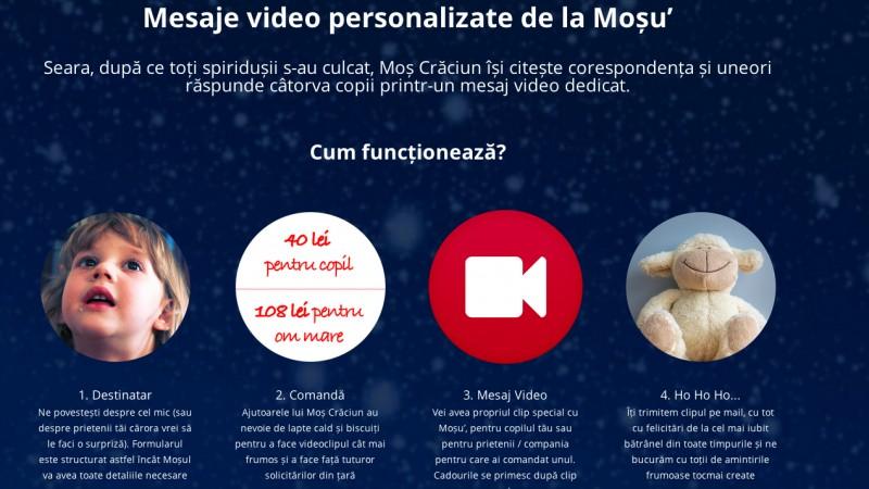 MosCraciun.rocks - primul serviciu din Romania, prin intermediul caruia copiii (dar si adultii) pot primi mesaje video personalizate de la Mos Craciun