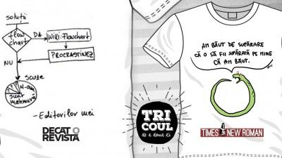 Times New Roman si Decat o Revista cer ingaduinta si iertare cu #tricouldeadouazi