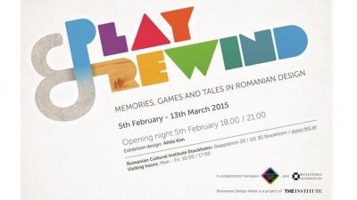 "Romanian Design Week si ICR Stockholm prezinta expozitia ""Play&Rewind - Amintiri, jocuri si povesti in designul romanesc"""