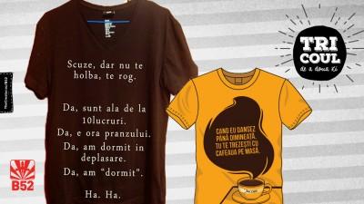 Piua! Mai avem niste scuze pentru #tricouldeadouazi