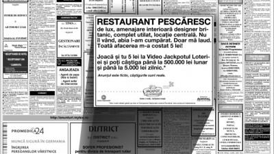 Anunturi mica publicitate - restaurant pescaresc
