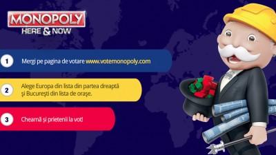 Vedetele din Romania voteaza tara noastra pentru a ajunge pe harta Monopoly