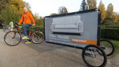 Invent Media lanseaza Bikevertising, o noua solutie de publicitate neconventionala si eco-friendly