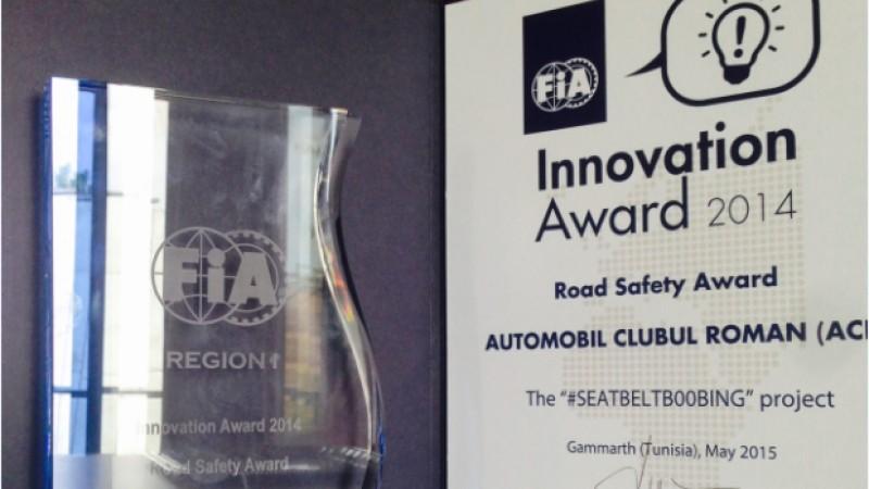 Automobil Clubul Roman obtine Trofeul FIA pentru Siguranta Rutiera cu campania #seatbeltb00bing
