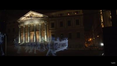 O holograma de protest, va rog