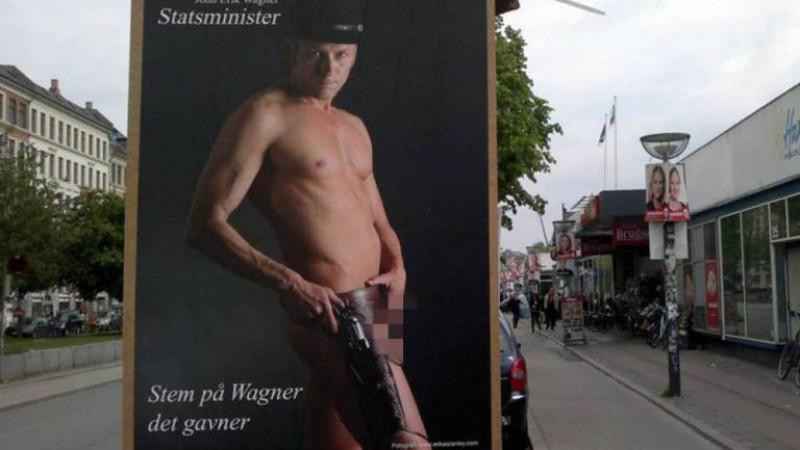 Un politician mandru de penisul sau