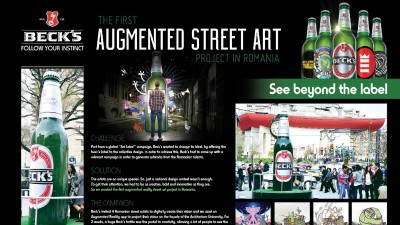 Beck`s - Art label - Augmented street and project