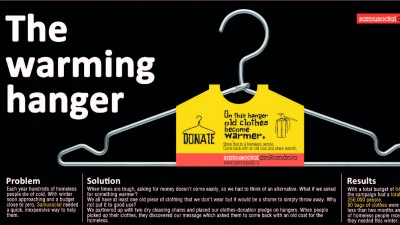 Samusocial Romania - The warming hanger