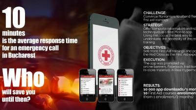 Prim ajutor - Crucea romana - Aplicatia de prim ajutor