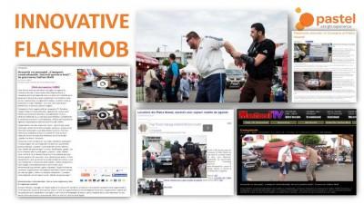 JTI, campania anti-contrabanda cu tigarete - Flash-Mob Piatra Neamt