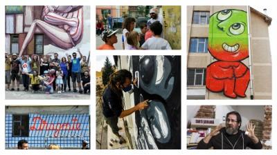 Cronica de festival. International Street Art Festival Sibiu 2015 a insemnat 15 lucrari finalizate in 7 zile de catre 21 de artisti
