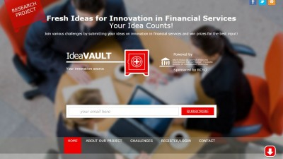 IdeaVault - Fresh Ideas for Innovation in Financial Services